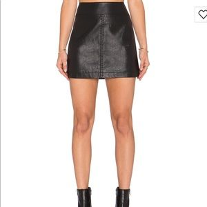 Free people leather skirt